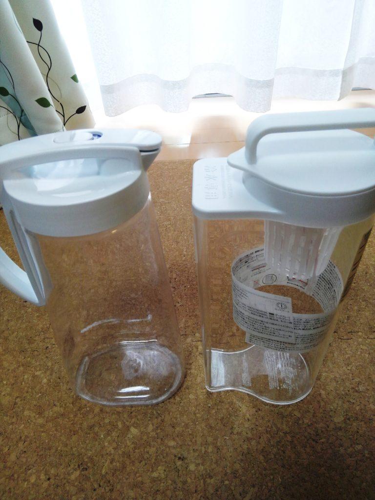 無印とニトリの冷水筒を比較してみる