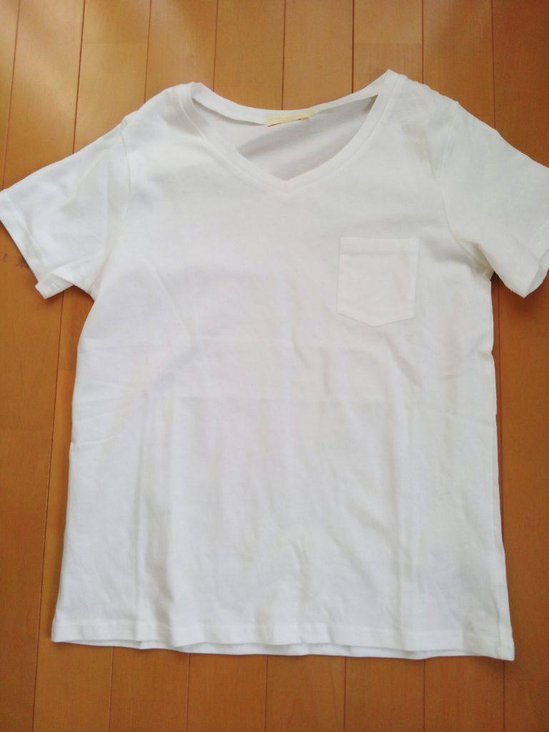 アースミュージック&エコロジーの白Tシャツ