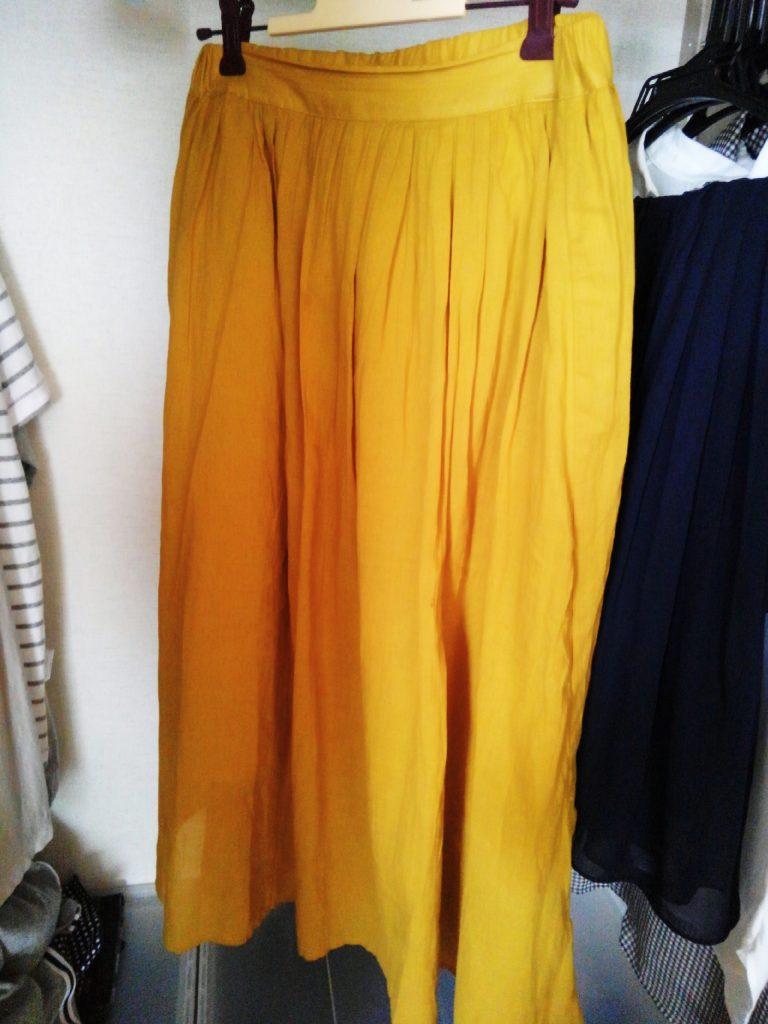 アースの黄色コットンスカート