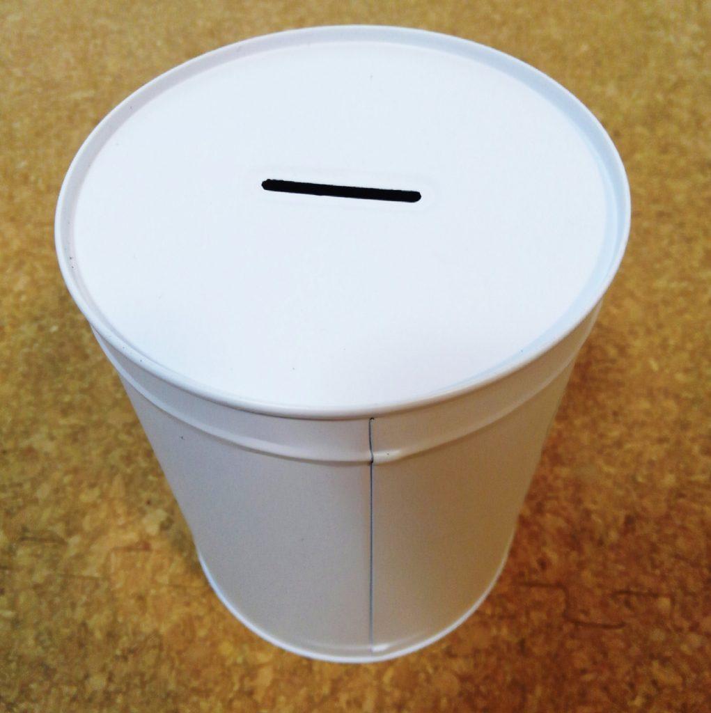 ダイソーのシンプルな貯金箱