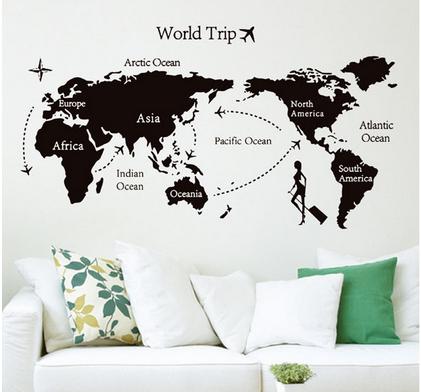 ニトリウォールステッカー世界地図