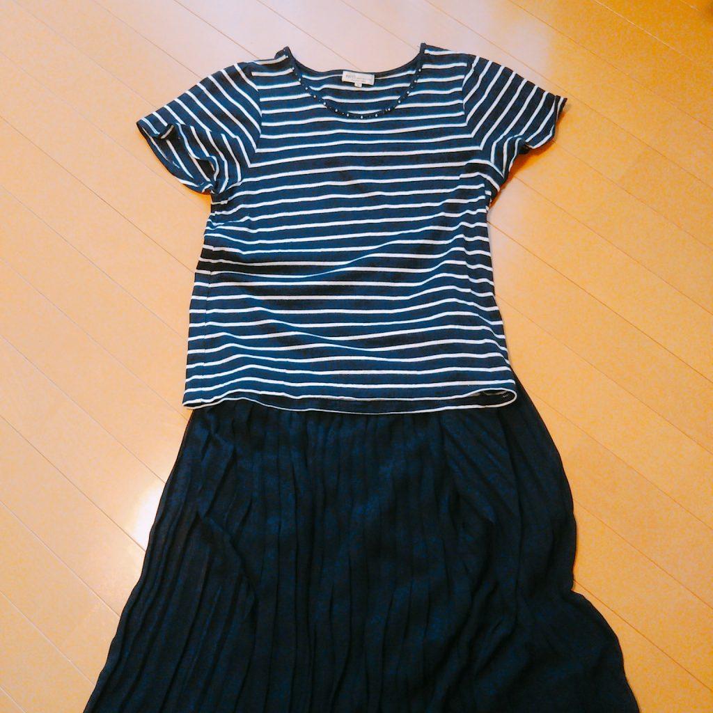 ミニマリストの秋服:スカート
